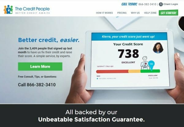 The Credit People Reviews image of their online website