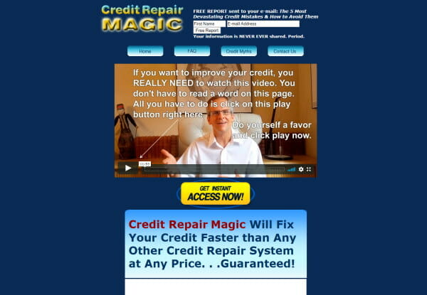 Credit Repair Magic software to help consumers to restore their credit quickly