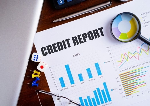About CreditRepairCompanies.co - The image is of an icon showing a graph with a magnifying glass