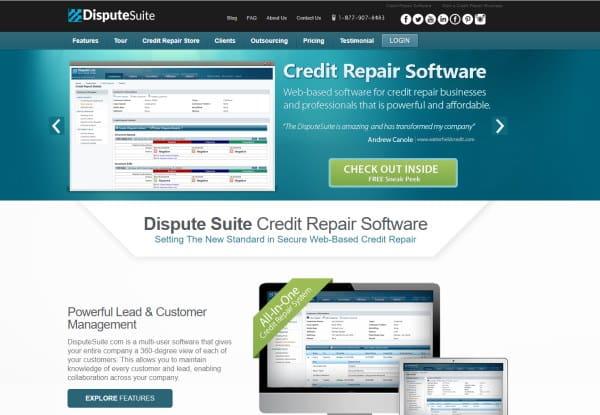 Image of the Dispute Suite credit repair software
