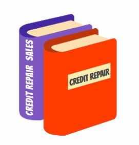 Image of two credit repair training books