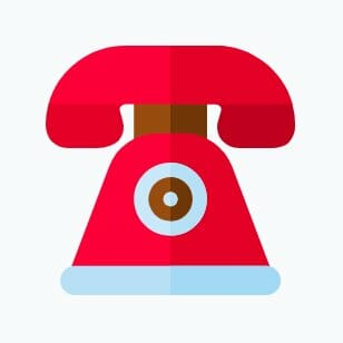 Image of a red phone to communicate with your credit repair clients