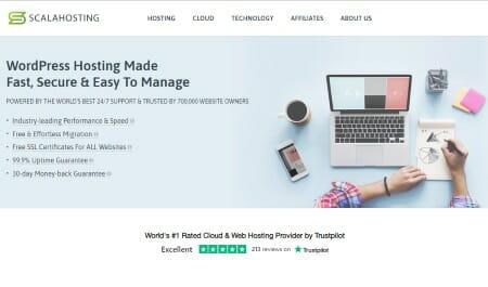 Image of the Scala Web Hosting website