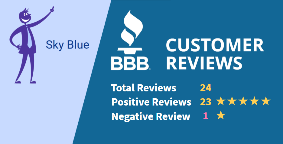 Sky Blue Credit BBB positive and negative reviews