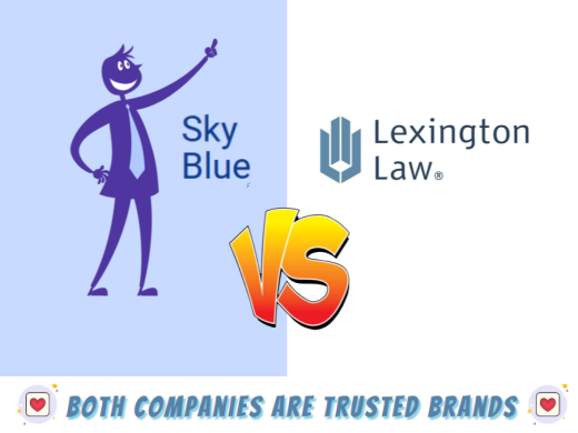 Which company operates with the most integrity Sky Blue Credit or Lexington Law