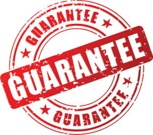 Image of a guarantee watermark icon logo suggesting which credit repair company has a better overall guarantee Lexington Law or Sky Blue Credit