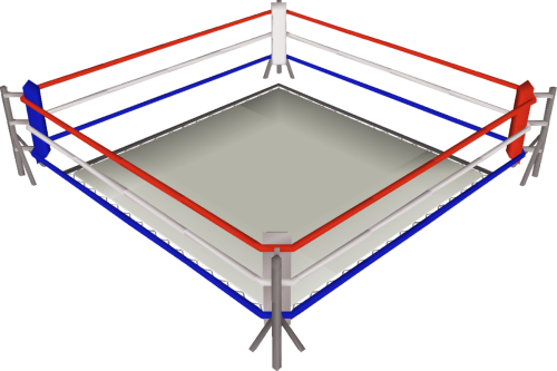 Image of a boxing ring for the fight between Lexington Law and Sky Blue Credit for the best overall credit repair company