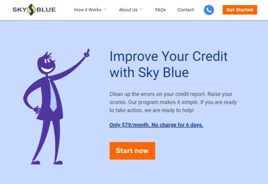 Best credit repair website with best user interface is Sky Blue Credit